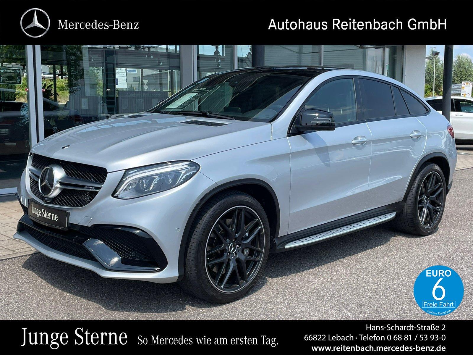 Mercedes-Benz GLE63 AMG Cp. PANO+DISTR+H&K +ABGA+MEMORY+360°, Jahr 2018, Benzin