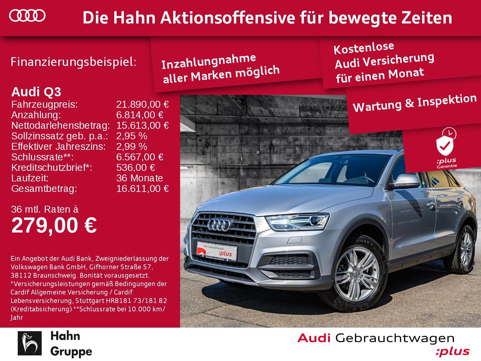 Audi Q3 1.4TFSI Design Navi SitzH EinparkH Tempo, Jahr 2018, Benzin