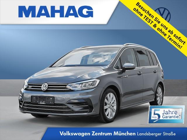 Volkswagen Touran 1.5 TSI Highline R line Ext. 7-Sitzer Navi LED Kamera eKlappe DAB+ AppConnect ParkPilot FrontAssist 17Zoll DSG, Jahr 2020, Benzin