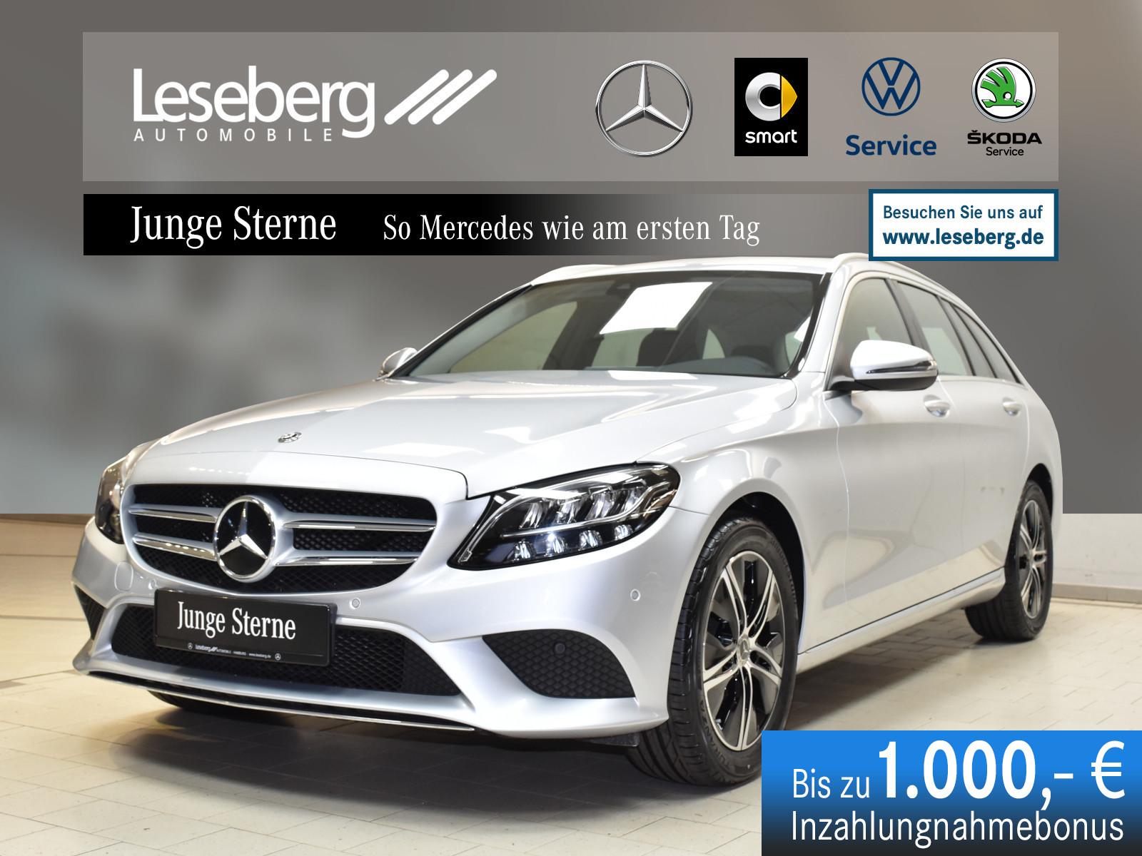 Mercedes-Benz C 200 d T Avantgarde/AHK/LED/Kamera/9G/Navi/Spur, Jahr 2020, Diesel