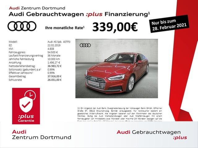Audi A5 Sportback 40TFSI S line/Navi/Leder/19Zoll, Jahr 2019, Benzin