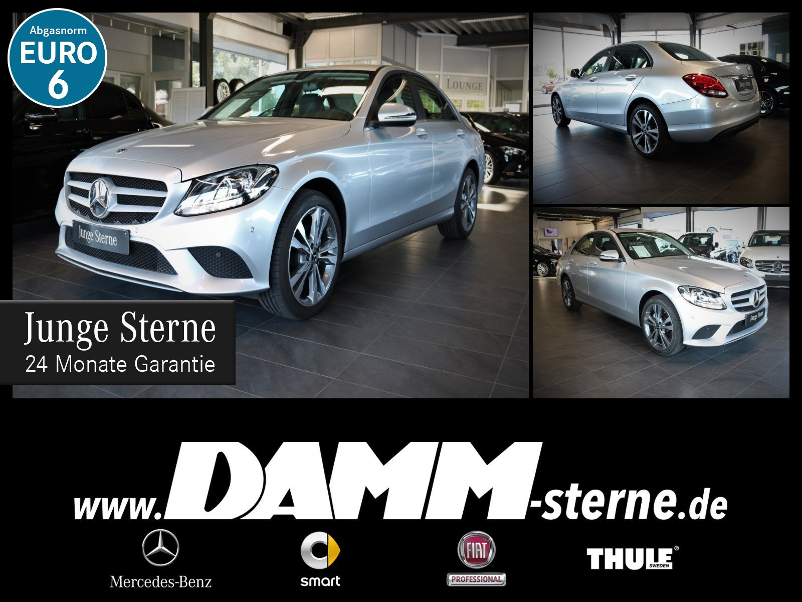 Mercedes-Benz C 160 Navi/Leder/SHZ/Kamera/LMR 18 Zoll/Facelift, Jahr 2017, Benzin