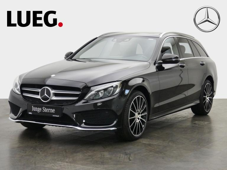Mercedes-Benz C 200 T AMG+COM+Pano+LED-HP+DistrP+19''+KeyGo+RF, Jahr 2016, Benzin