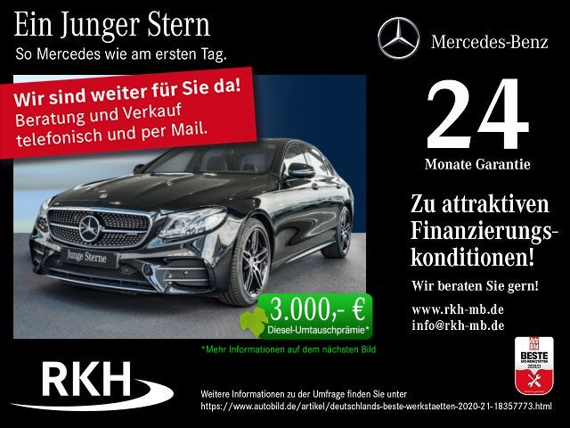 Mercedes-Benz AMG E 53 4M+ Lim 9G/COMAND/Panorama/Distron./LED, Jahr 2020, Benzin