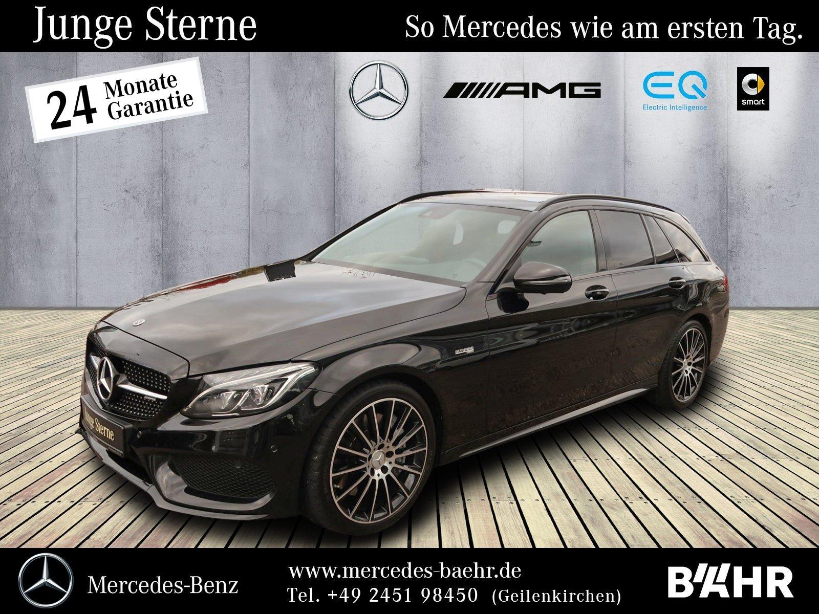 "Mercedes-Benz C 43 AMG 4M T Night/Comand/ILS/Burmester/LMR-19"", Jahr 2017, petrol"