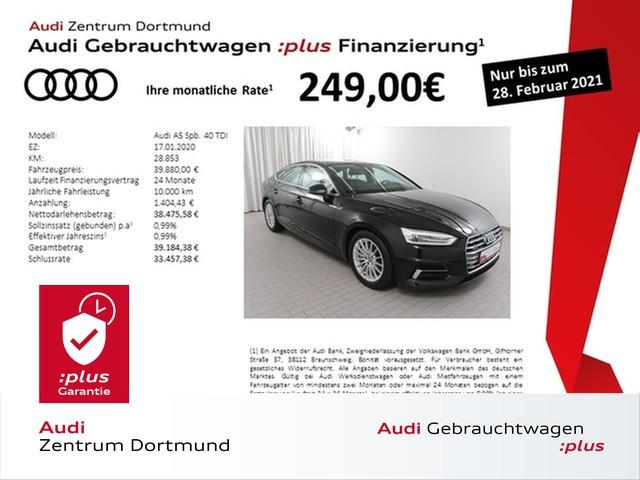 Audi A5 Sportback sport 40TDI qu. Navi+/Leder/DAB/eSitze, Jahr 2020, Diesel