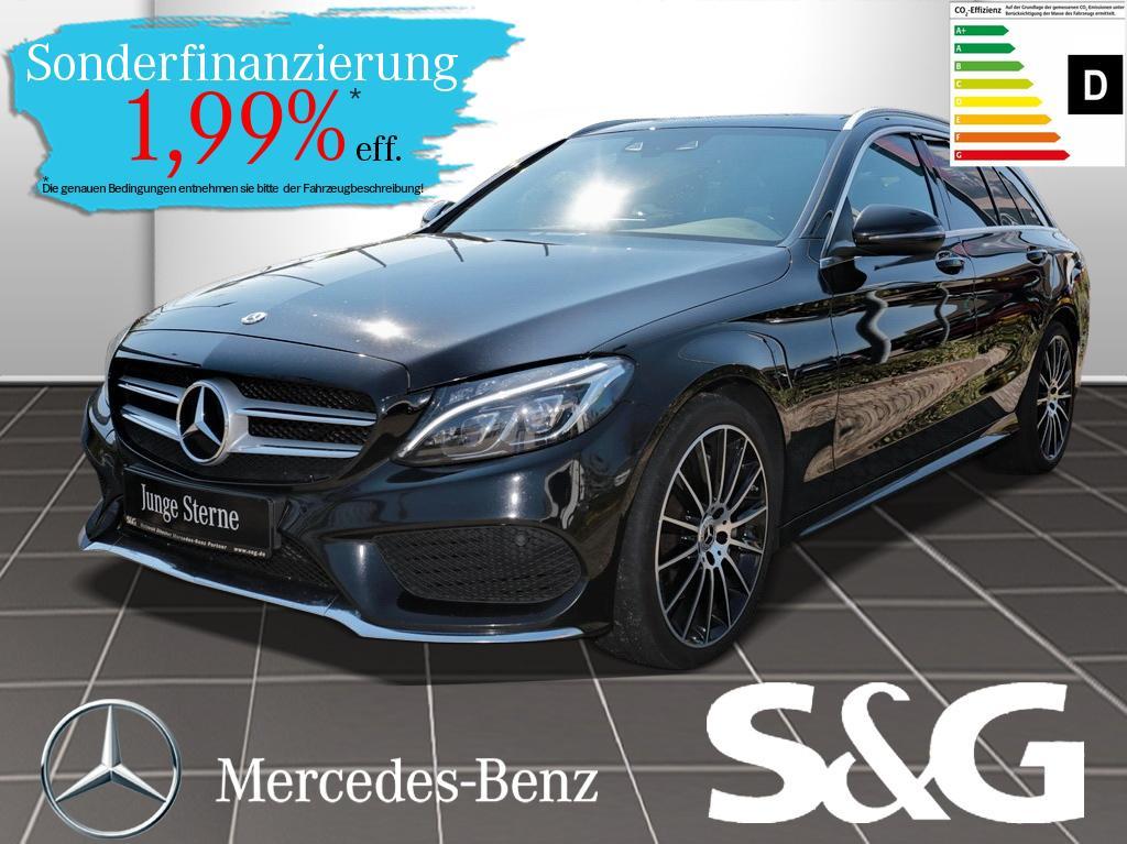 Mercedes-Benz C 400 T 4M AMG Panorama Standhzg AHK Sitzklima., Jahr 2017, Benzin