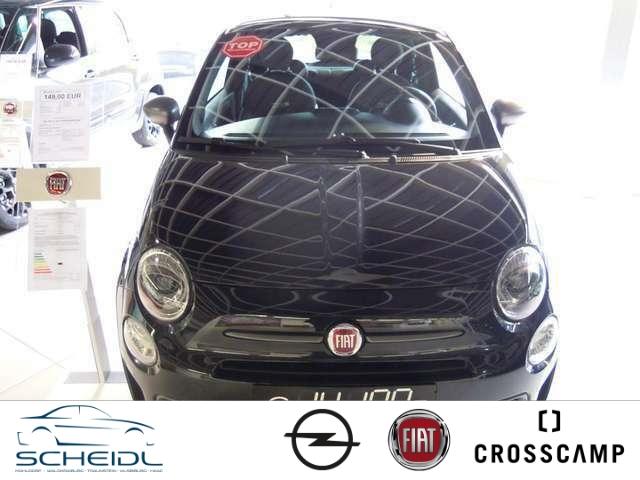 Fiat 500S 1.2 8V Navi Multif.Lenkrad Knieairbag RDC Klimaautom Temp PDC AUX USB MP3 ESP Regensensor, Jahr 2018, Benzin