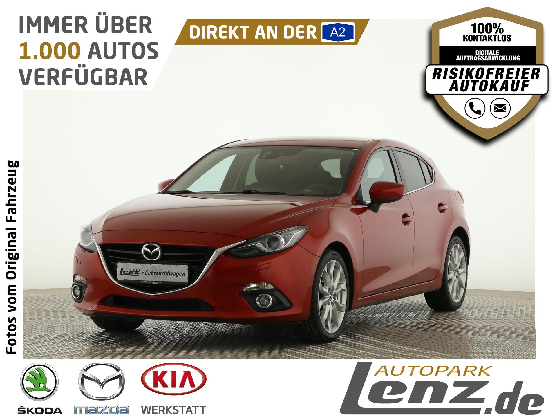 Mazda 3 Sports-Line HUD Xenon Navi SHZ PDC FSE RVM LM, Jahr 2013, Benzin