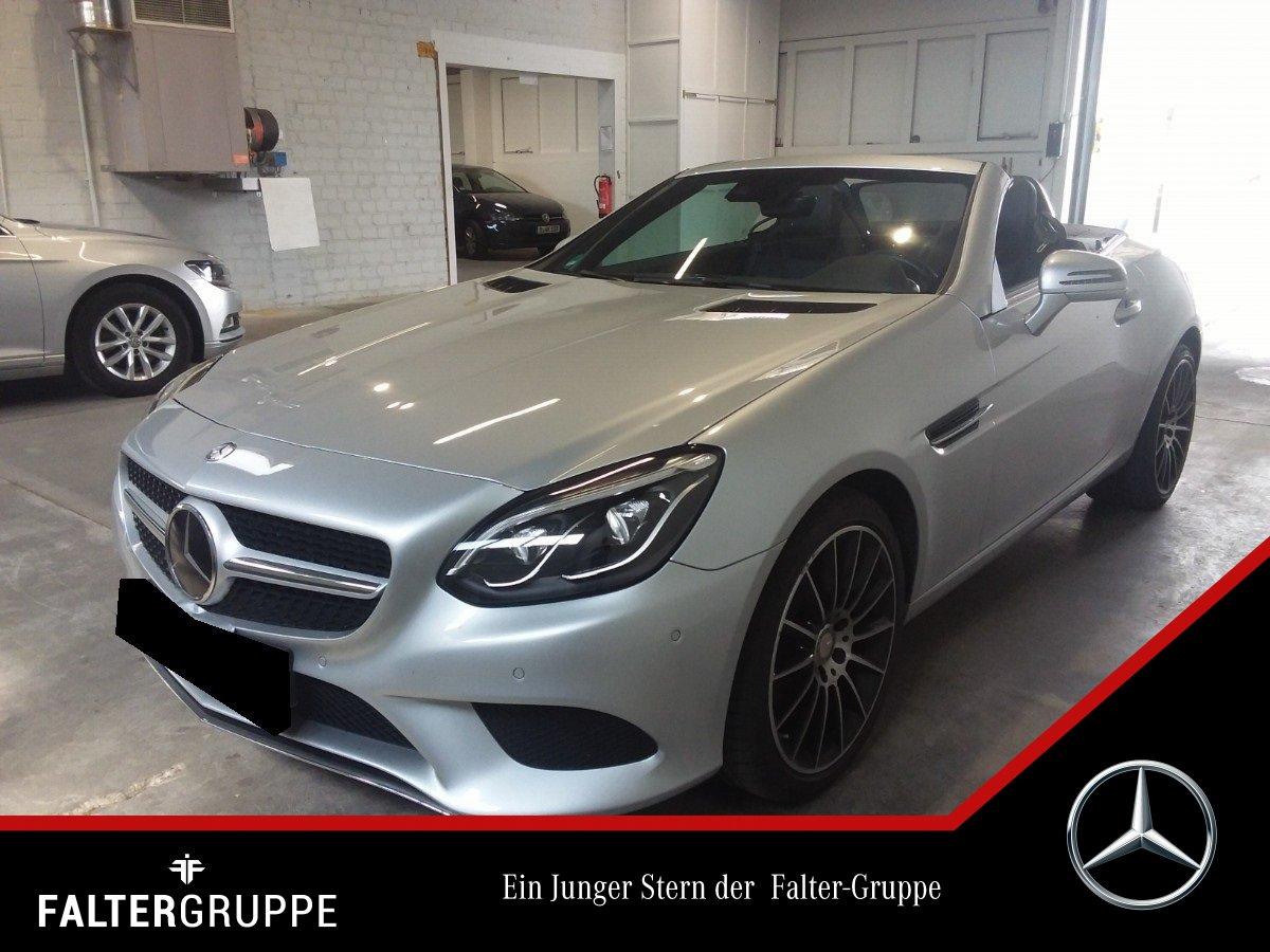 "Mercedes-Benz SLC 180 9G AMG 18"" DISTR SpurP ILS Pano AIRSCARF, Jahr 2016, petrol"