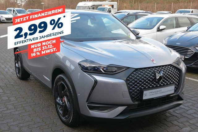 DS Automobiles DS3 Crossback PERFORMANCE LINE PT 100 DS-LED/Navi/Head-UP, Jahr 2019, Benzin