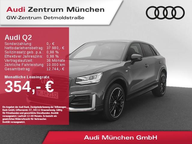 "Audi Q2 35 TFSI S line Virtual LED Navi Leder #comfort Assistenz 19"" S tronic, Jahr 2020, petrol"