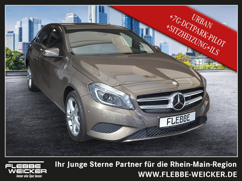 Mercedes-Benz A 250 URBAN+7G-DCT+PARK-PILOT+BI-XENON-ILS+SHZ++, Jahr 2014, Benzin