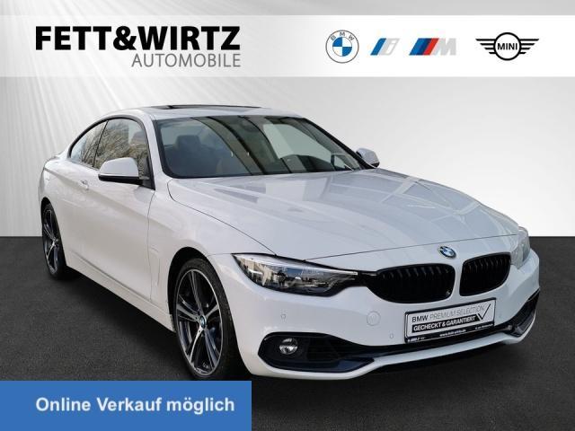 BMW 440i Coupe Sport HUD LED Leder e.GSD Alarm 19''LM, Jahr 2019, Benzin