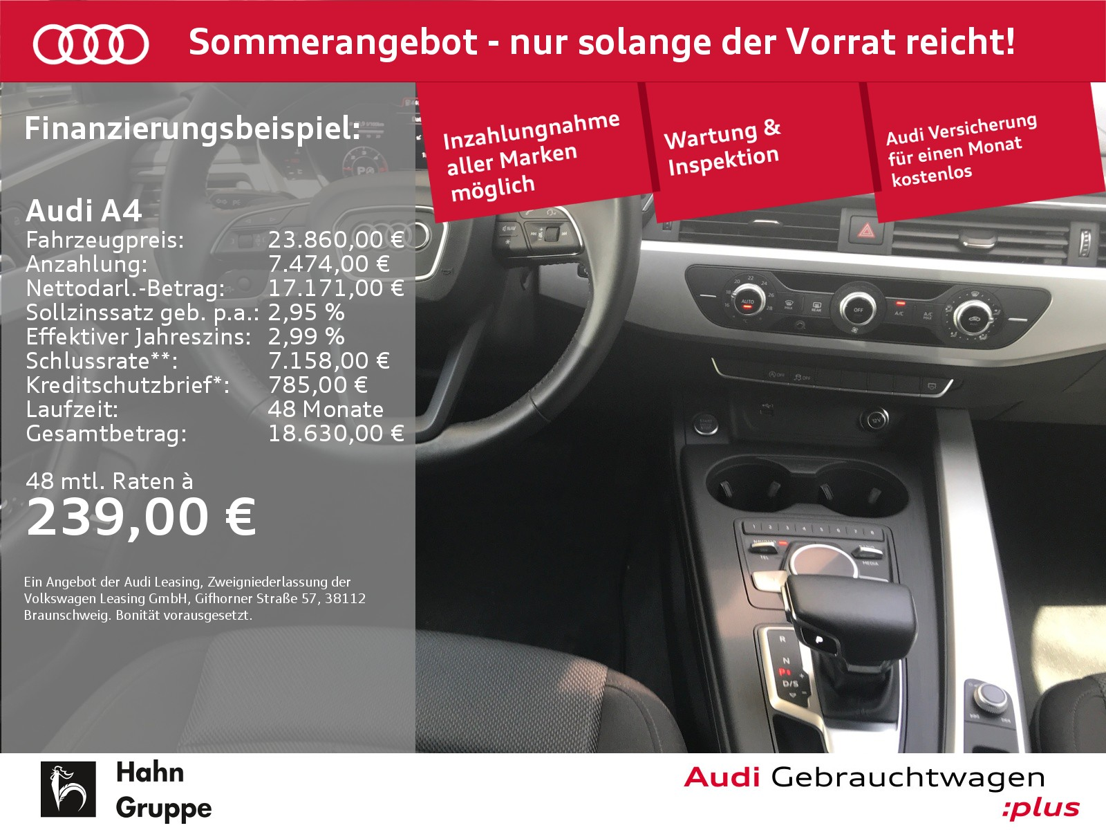 Audi A4 Avant 2.0 TDI S-trc Navi LED Einpark, Jahr 2018, Diesel