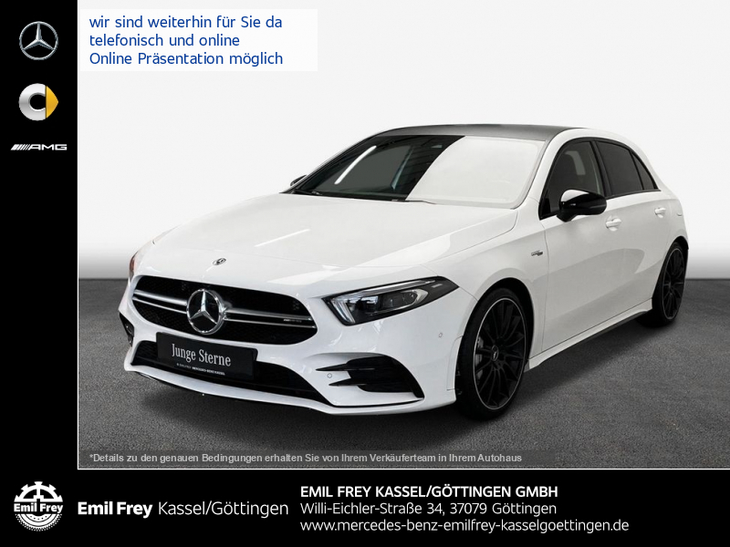 Mercedes-Benz A 35 AMG 4M+Night+PremMBUX+MBeam+19''+SoundSyst, Jahr 2019, Benzin