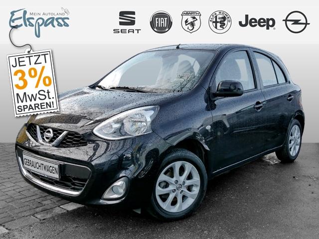 Nissan Micra Acenta 1.2 KLIMAAUT ALU REGEN/LICHTSENS. TEMPOMAT, Jahr 2013, Benzin