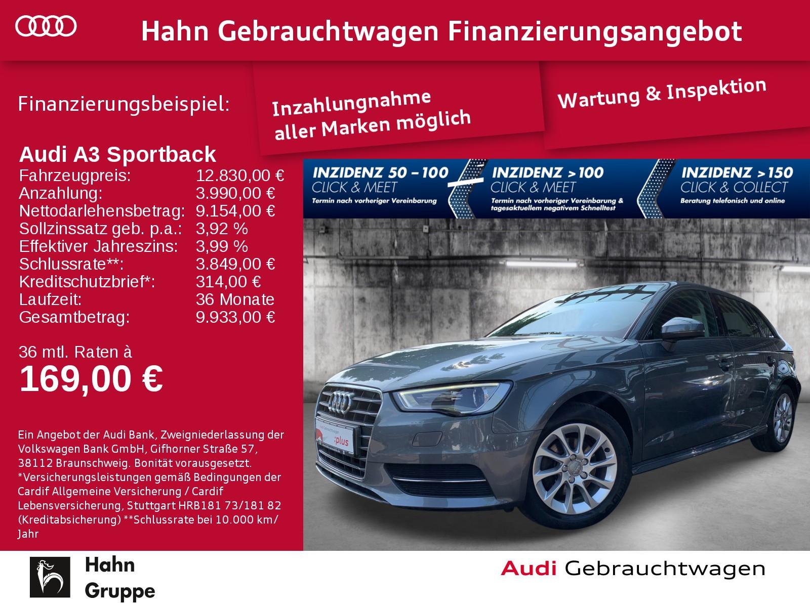 Audi A3 Sportback 1.6TDI Attract Navi-Vorb Xen Einparkh Sitzh, Jahr 2014, Diesel
