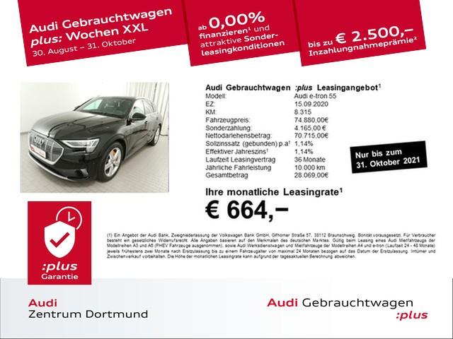 Audi e-tron 55 qu. S line/HuD/Matrix/Pano/B+O, Jahr 2020, Elektro