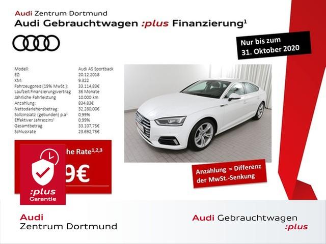Audi A5 Sportback sport 35TDI S tronic/Navi/LED/AHK/DAB, Jahr 2018, Diesel