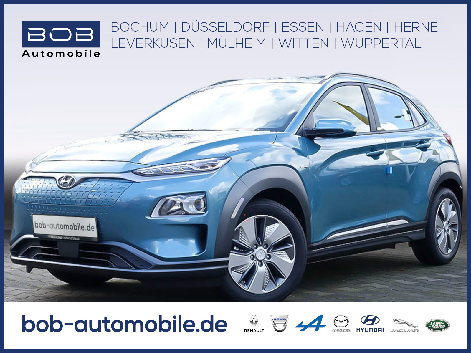 Hyundai Kona Electro Trend Navigations-P Stauassistent, Jahr 2020, Elektro