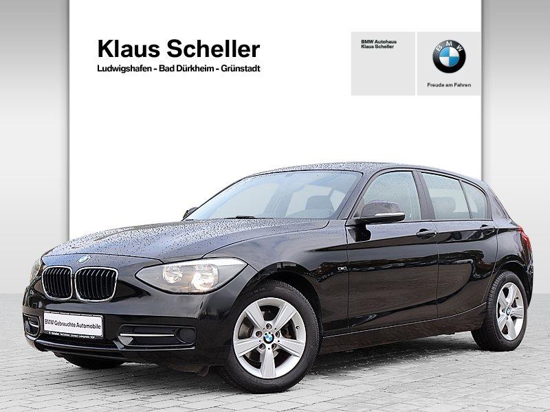 BMW 116i 5-Türer Sport Line USB Klima Shz PDC, Jahr 2013, Benzin