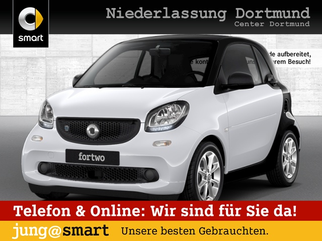 smart fortwo coupé 60kWed cool&Audio SHZ Pano PDC, Jahr 2018, Elektro