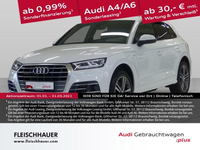 Audi Q5 45 TFSI qu. sport 3x S line+Matrix+HUD+AHK+20''+B&O+VC+Kamera, Jahr 2019, Benzin