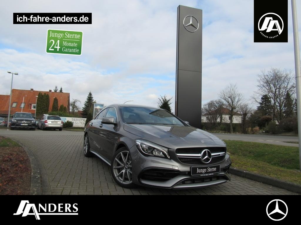 Mercedes-Benz CLA 45 AMG 4M Coupé Navi+SHZ+LED+Kam+Pano+Night, Jahr 2017, Benzin