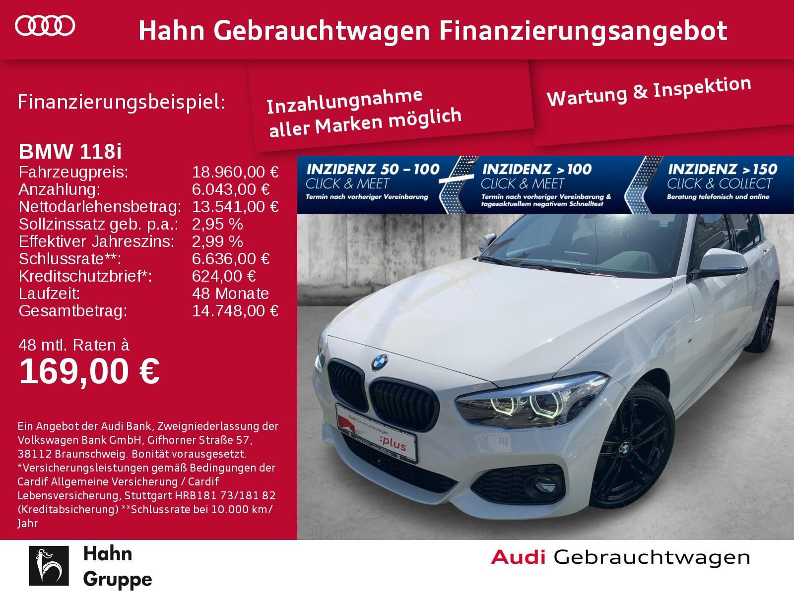 BMW 118i Baureihe 1 Lim. LED Sitzh Einpark Klima, Jahr 2019, Benzin