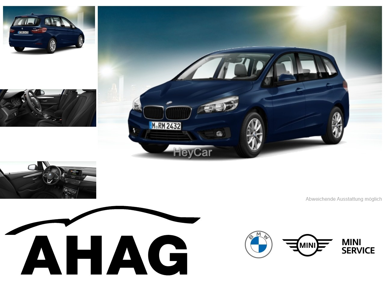 BMW 218 Gran Tourer Advantage Klimaaut. PDC HIFI, Jahr 2016, Benzin