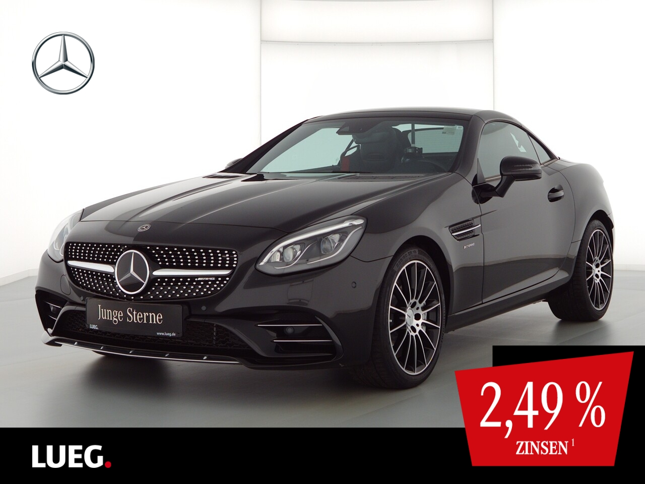 Mercedes-Benz SLC 43 AMG COM+PanoV+LED-ILS+Distr+Mem+AIRSc+PTS, Jahr 2020, Benzin