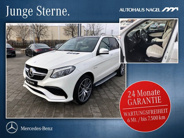 "Mercedes-Benz GLE 63 AMG 4M Pano+DISTR+21""+360°+AHK+KEYLESS-GO, Jahr 2016, petrol"