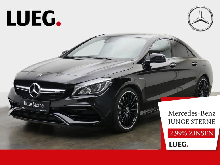 Mercedes-Benz CLA 45 AMG 4M Navi+Pano+LED+AbGas+Night+HK+19+RK, Jahr 2017, Benzin