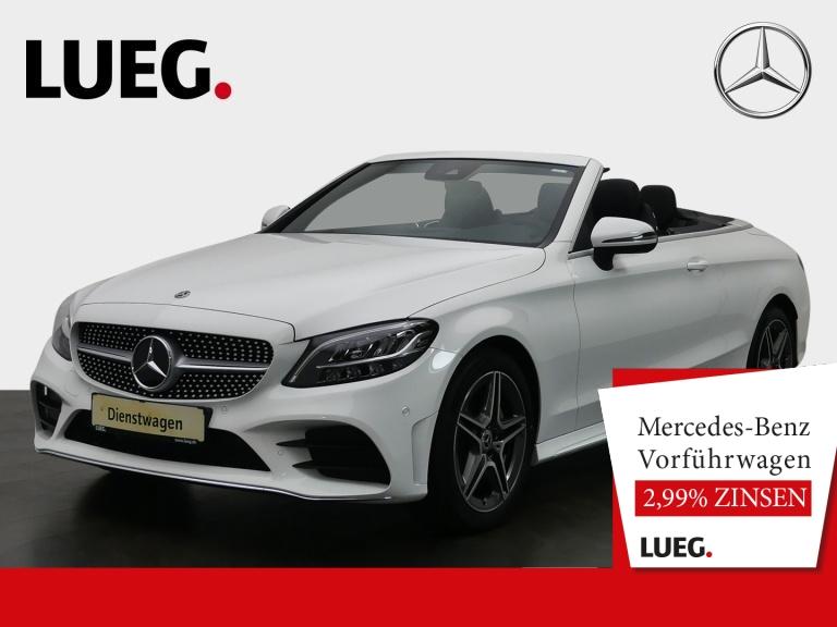 Mercedes-Benz C 180 Cabrio AMG+VERDECK ROT+TOTW+AIRSCARF+KAM, Jahr 2020, Benzin