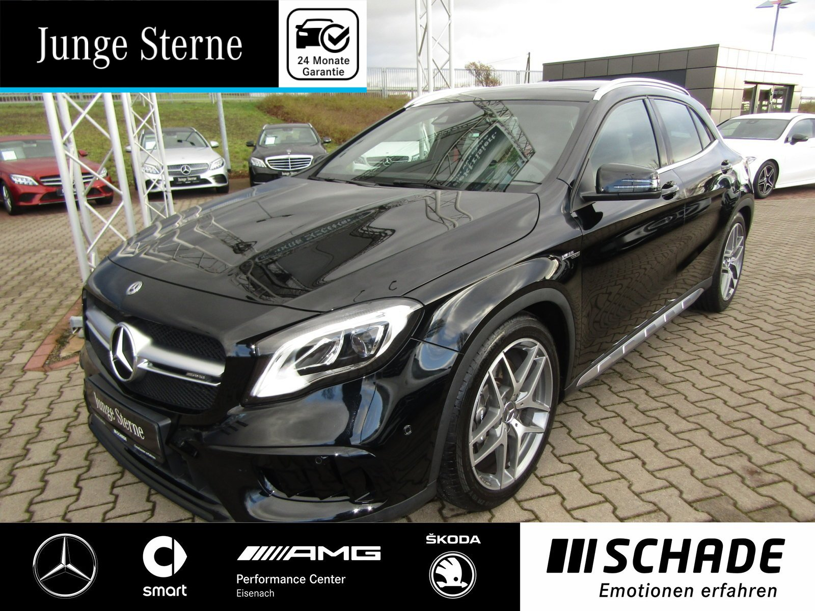 "Mercedes-Benz GLA 45 AMG 4M Comand*Panorama*19""AMG*LED*Sitzhz., Jahr 2018, petrol"