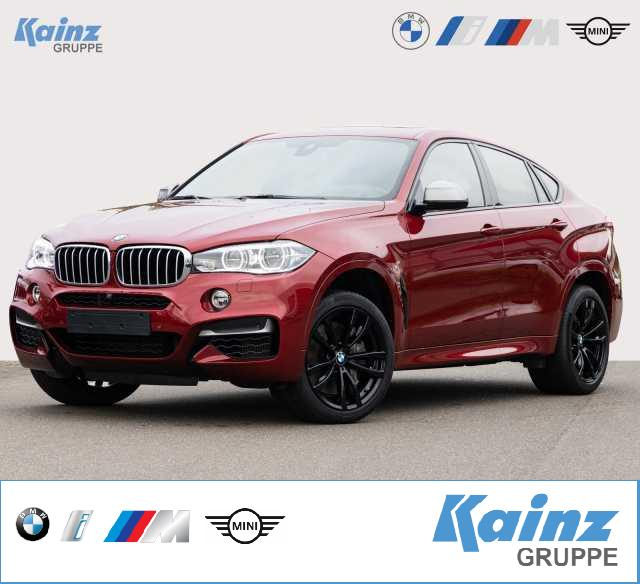 BMW X6 M50d HUD/AHK/Glasdach/Adaptive LED/Komfortsitze/Leder Nappa/Surround View/Speed Limit, Jahr 2018, Diesel