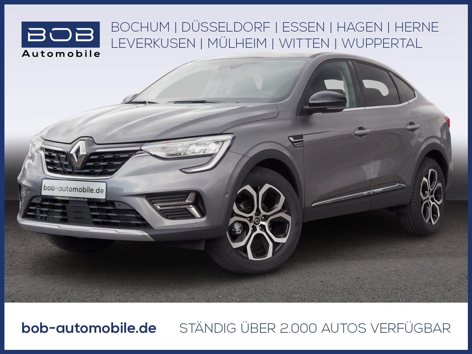 Renault Arkana INTENS TCe 140 EDC SHZ LRH NAVI KLIMA PDC, Jahr 2021, Benzin