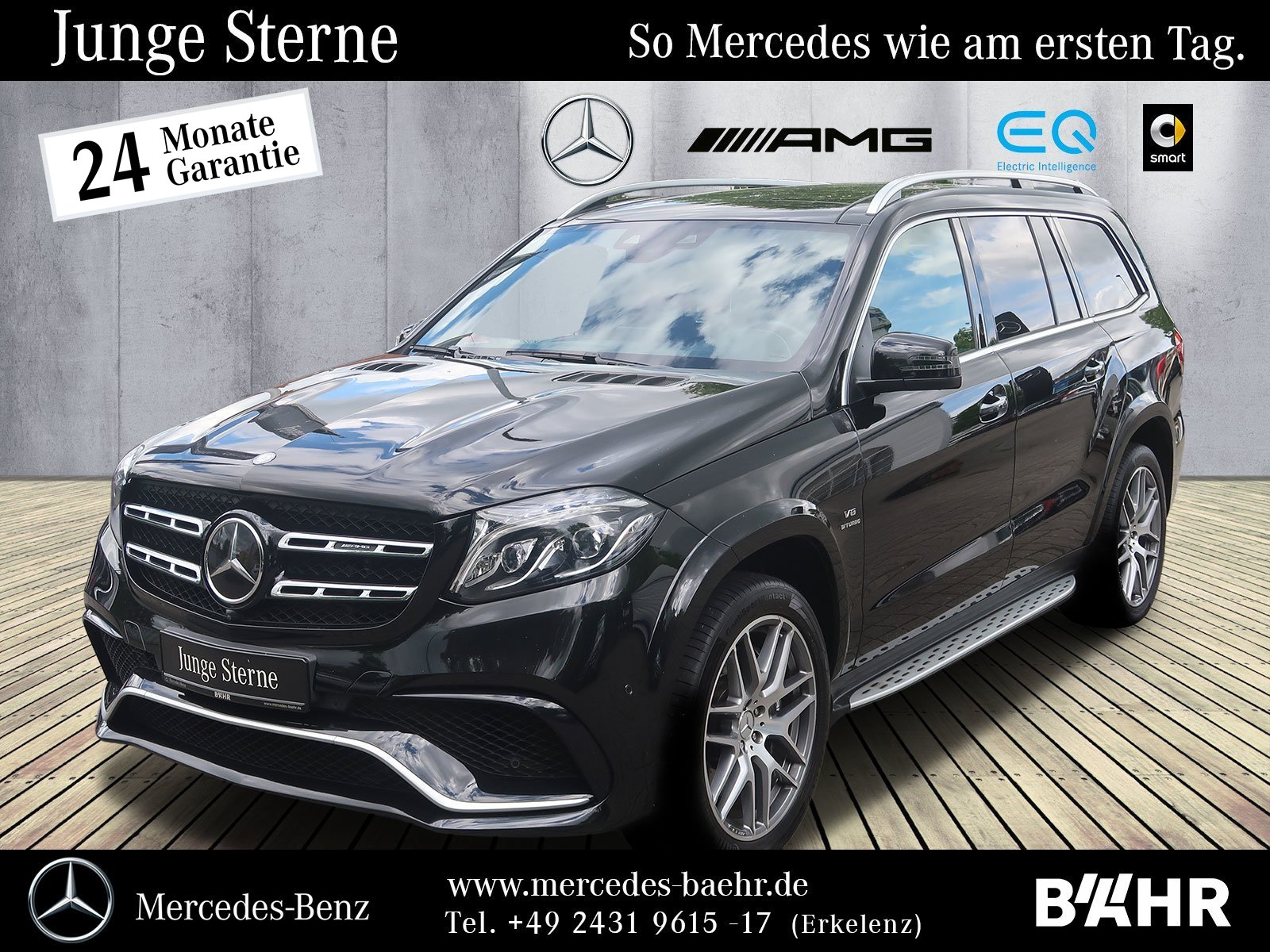 "Mercedes-Benz GLS 63 AMG 4M Comand/LED-ILS/AHK/Airmatic/LMR21"", Jahr 2017, petrol"