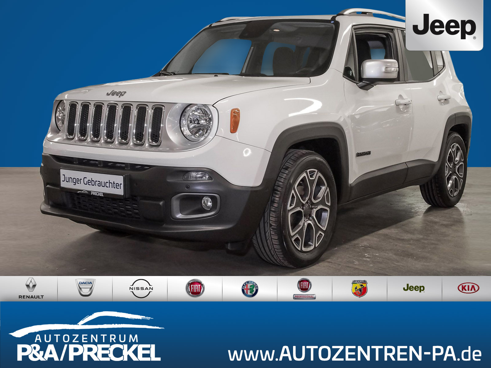 Jeep Renegade Limited 1.4 MultiAir /Navi/Kamera/Totw., Jahr 2016, Benzin
