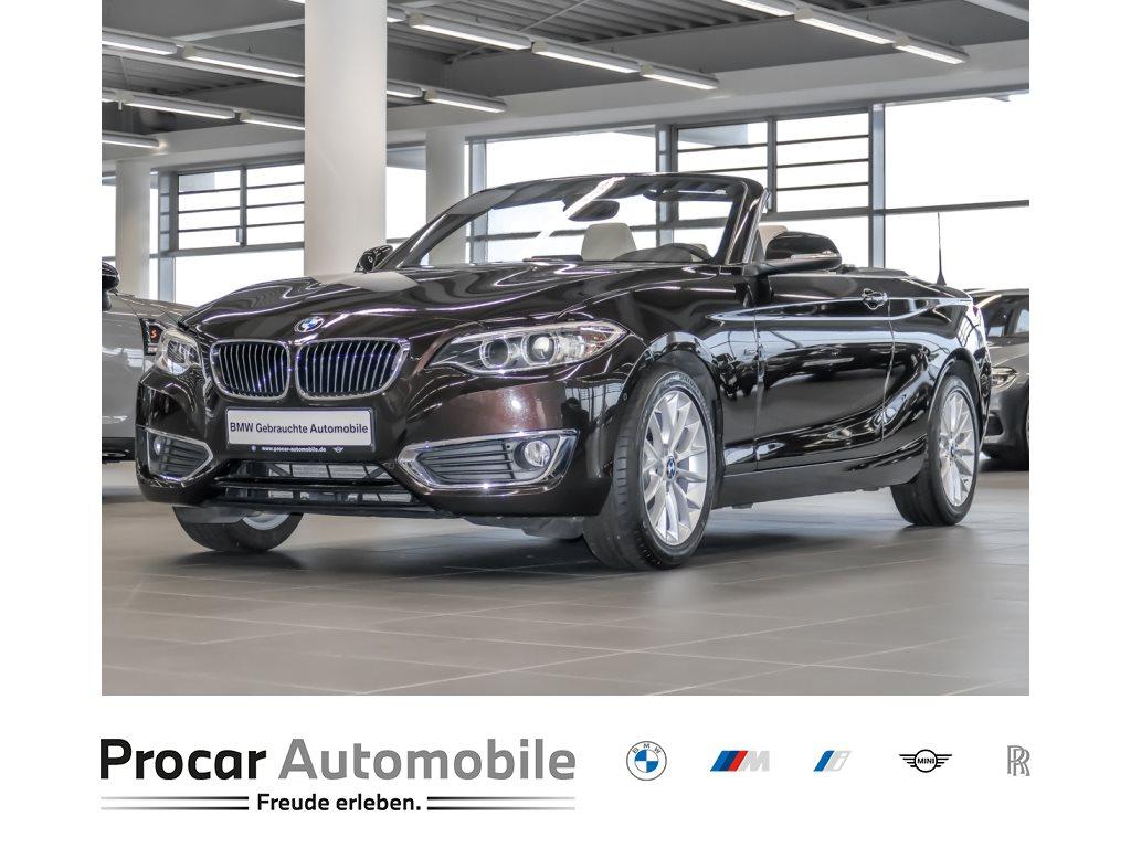 BMW 218d Cabrio Luxury Line Navi Leder Kurvenlicht, Jahr 2017, Diesel