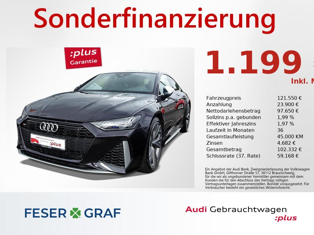 Audi RS7 Sportback 4.0 TFSI - NAVI,HD-MATRIX,PANO,ACC, Jahr 2019, Benzin