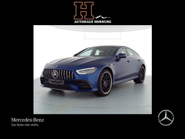 "Mercedes-Benz GT 43 4M+ STHZG AHK HUD PANO 21"" MBUX BURMES FA+, Jahr 2020, petrol"