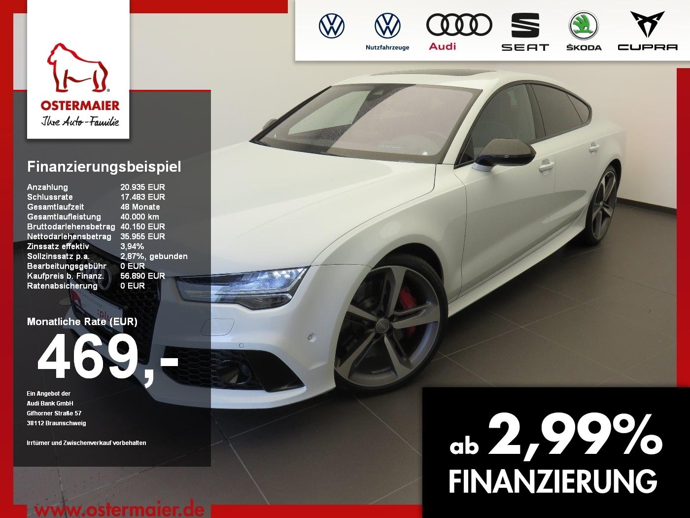 Audi RS7 Sportback 4.0TFSI 560PS QUATTRO NP:174tEUR V, Jahr 2015, Benzin