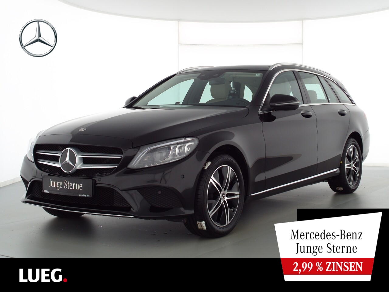 Mercedes-Benz C 180 T Avantgarde+Navi+Pano+Mbeam+AHK+SpurP+RFK, Jahr 2020, Benzin