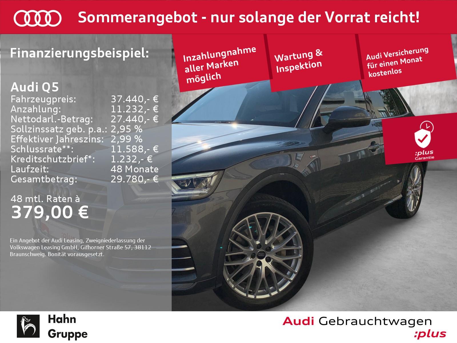 Audi Q5 2.0TDI qua S-trc S-line EU6 GRA LED Virtual, Jahr 2018, Diesel