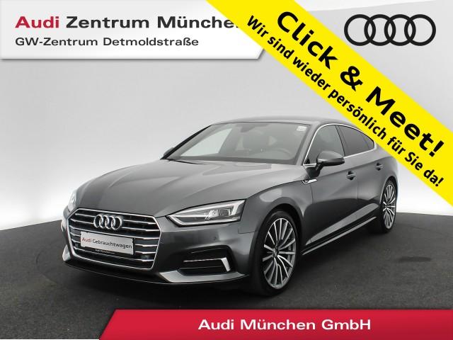 "Audi A5 Sportback 2.0 TFSI Sport S line Virtual LED Navi Teilleder 19"" S tronic, Jahr 2017, petrol"
