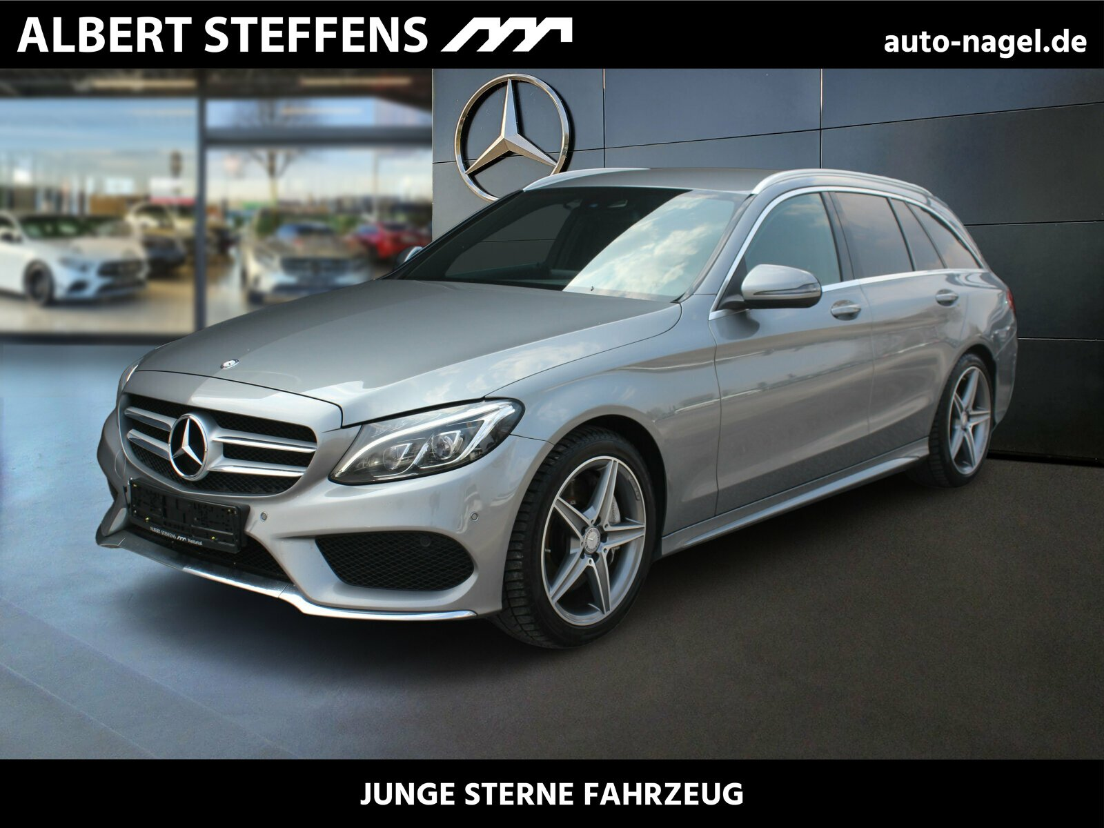 Mercedes-Benz C 250 T AMG NAVI+LED+Sitzh+Kamera+DAB+Ambiente, Jahr 2016, Benzin