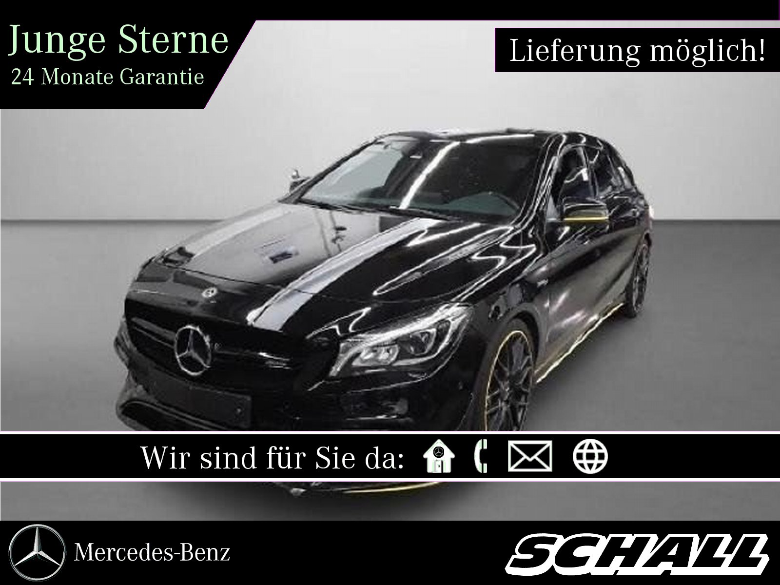 Mercedes-Benz CLA 45 AMG 4M SB PERF.SITZE+AERODYN.+PERF.ABGAS, Jahr 2017, Benzin