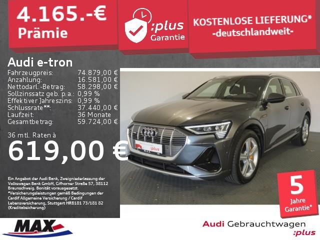 Audi e-tron 55 QUATTRO S LINE >LEASING AB 619.- EURO<, Jahr 2020, Elektro